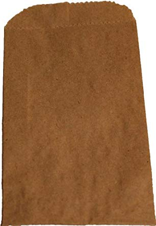 500 Natural Kraft Merchandise Bags, 12