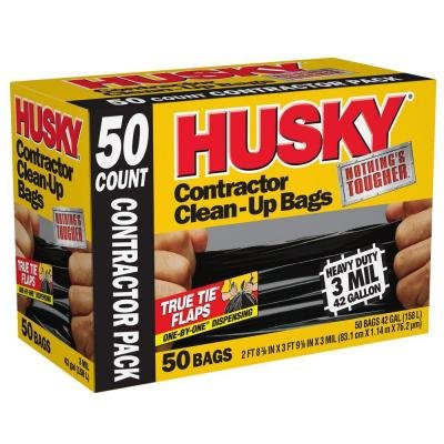 Husky 42 Gal. Contractor Bags (50-Count) (1)