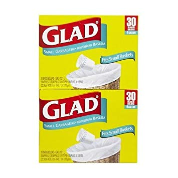 Glad Small Garbage Bags 30 CT (Pack of 24)